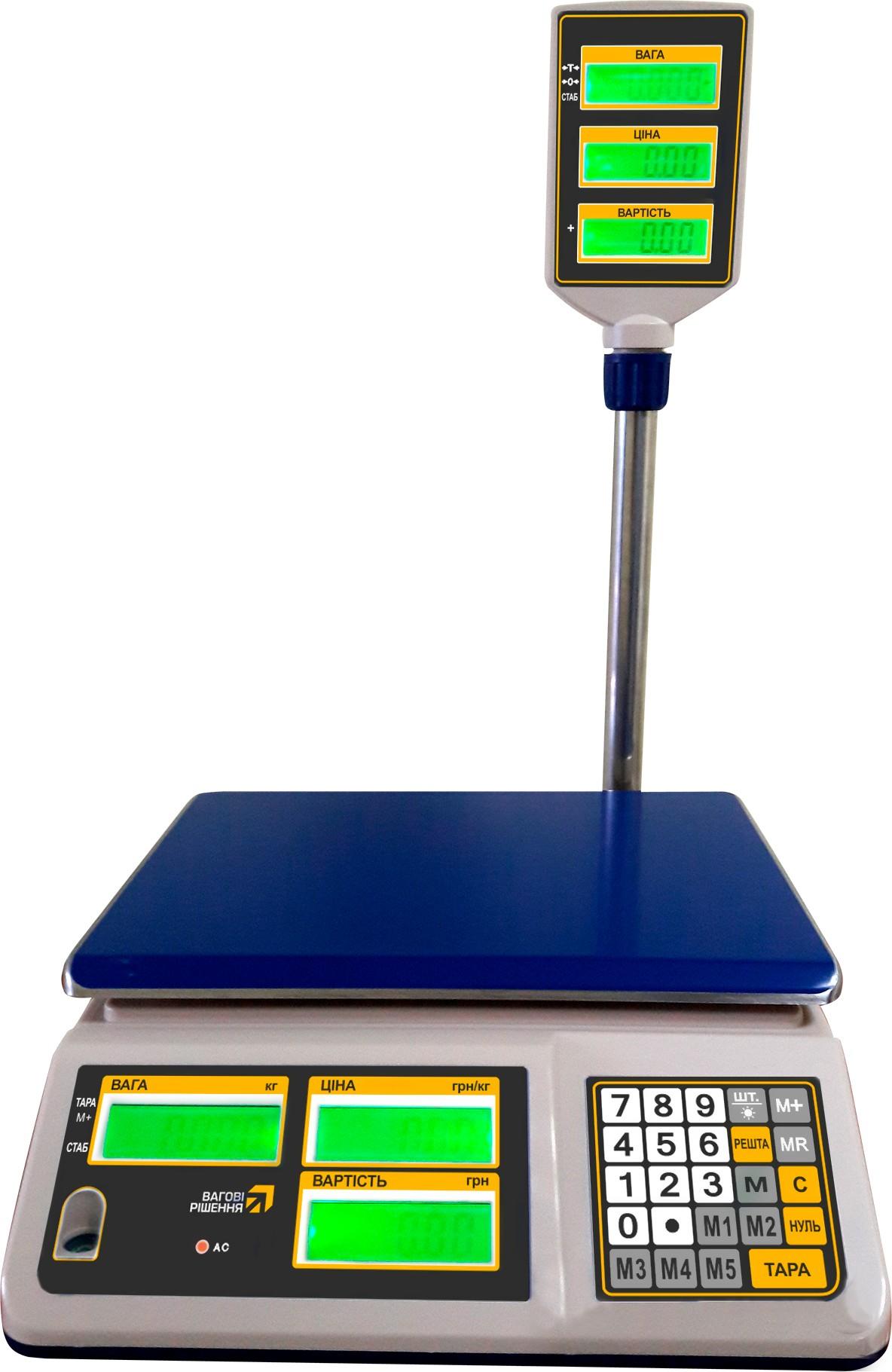 Торгові настільні ваги РС30